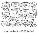 comic speech bubbles and... | Shutterstock .eps vector #616996862