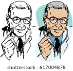 doctor with a stethoscope | Shutterstock .eps vector #617004878