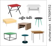 coffee tables in different...   Shutterstock .eps vector #617009552
