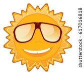 summer sun in sunglasses and a... | Shutterstock .eps vector #617016818