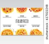 watercolor pizza menu. original ... | Shutterstock . vector #617022248