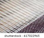 Close Up Parts Of Cotton Yarns...