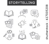 storytelling icon set with... | Shutterstock .eps vector #617035208