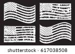 usa american grunge flag set ... | Shutterstock .eps vector #617038508