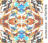 mosaic colorful pattern for... | Shutterstock . vector #617047856