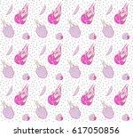 dragon fruit pattern | Shutterstock .eps vector #617050856