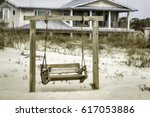 Abstract Of Wooden Swing On...