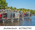 Everglades city, Florida, United States of America. Airboat tours at the mangrove forest