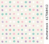 vector illustration of polka... | Shutterstock .eps vector #617068412