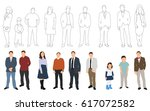 vector illustration  collection ... | Shutterstock .eps vector #617072582