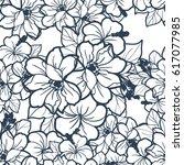 abstract elegance seamless... | Shutterstock .eps vector #617077985