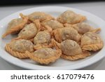 Small photo of fried puff with mushroom filling