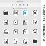 documents vector icons for user ... | Shutterstock .eps vector #617100482