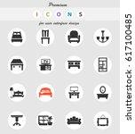 furniture vector icons for user ... | Shutterstock .eps vector #617100485