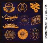 labels set vintage. vector... | Shutterstock .eps vector #617108645