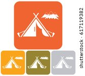 stylized icon of tourist tent.... | Shutterstock .eps vector #617119382