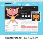 vector website design template | Shutterstock .eps vector #61712629