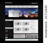 vector website design template | Shutterstock .eps vector #61712632