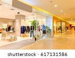 interior of fashion store in... | Shutterstock . vector #617131586