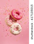 Various Decorated Doughnuts In...