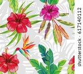 seamless vector pattern... | Shutterstock .eps vector #617140112