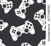 vector seamless pattern with... | Shutterstock .eps vector #617148392