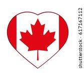 canadian flag  red maple leaf... | Shutterstock .eps vector #617167112