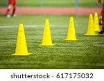 cone tool for training on... | Shutterstock . vector #617175032