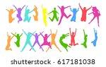 hurray team team achievement  | Shutterstock .eps vector #617181038