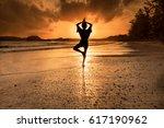 my friend shadow in nopparat... | Shutterstock . vector #617190962