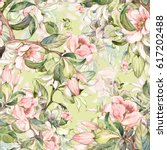 watercolor seamless pattern of... | Shutterstock . vector #617202488