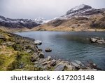 Mount Snowdon  Wales  Uk. The...