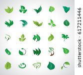 leaf icons set  vector... | Shutterstock .eps vector #617211446