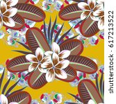 vector abstract floral...   Shutterstock .eps vector #617213522