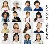 People Set Diversity Kids Playful - Fine Art prints