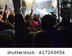 youth on the concert of rock... | Shutterstock . vector #617243456
