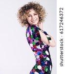 portrait of beautiful young... | Shutterstock . vector #617246372