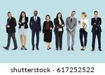 diversity business people set... | Shutterstock . vector #617252522