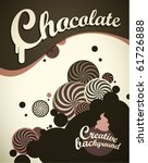 chocolate background | Shutterstock .eps vector #61726888