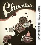 chocolate background | Shutterstock .eps vector #61726888