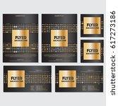 gold banner background flyer... | Shutterstock .eps vector #617273186