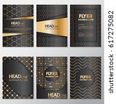 gold banner background flyer... | Shutterstock .eps vector #617275082