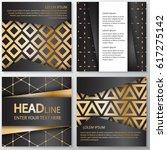 gold banner background flyer...   Shutterstock .eps vector #617275142
