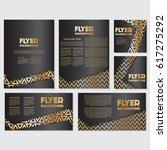 gold banner background flyer... | Shutterstock .eps vector #617275292