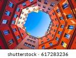 octagon shape building inner... | Shutterstock . vector #617283236