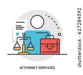 lawyer concept. attorney... | Shutterstock .eps vector #617284592