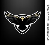 eagle in flight  logo  symbol.   Shutterstock .eps vector #617287526