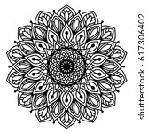 mandalas for coloring book.... | Shutterstock .eps vector #617306402