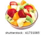 fresh fruit salad in the bowl | Shutterstock . vector #61731085