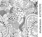 tracery seamless pattern.... | Shutterstock .eps vector #617315192